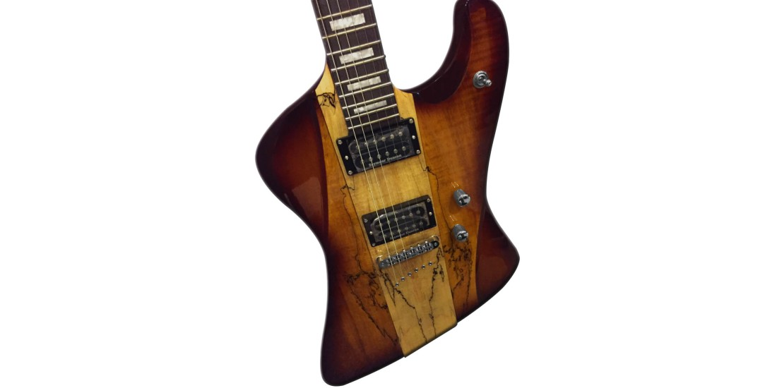 DBZ  HFRSM-CAR  Hailfire  SM  Electric  Guitar  Trans  Caramel  Finish
