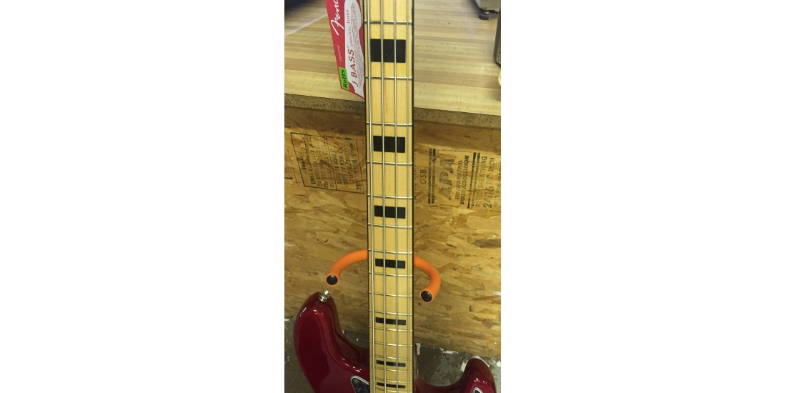 Fender US Special Geddy Lee Jazz Bass Maple Neck Crimson Red Transparant - B Stock