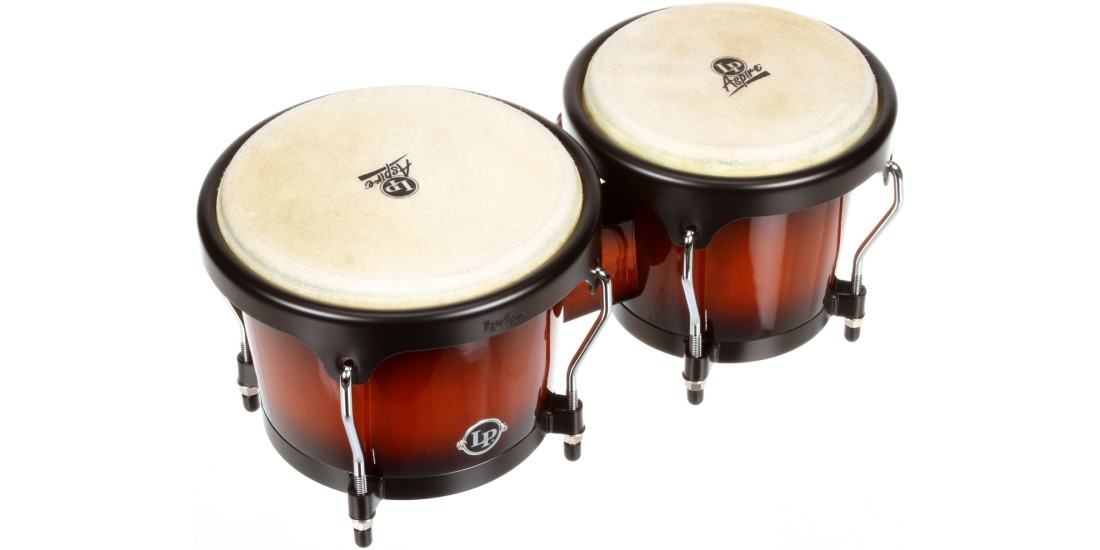Lp Latin Percussion Aspire Wood Bongos Vintage Sunburst (6 3 4 and 8 inch)