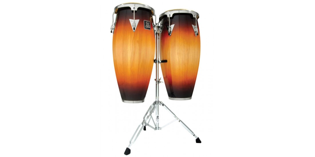 Lp Latin Percussion Aspire Wood Conga Set Vintage Sunburst With Stand (10 and 11 Inch)