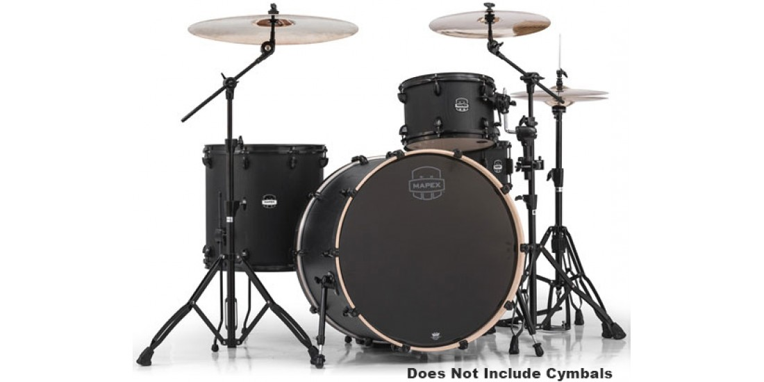 Mapex  MA446SBZW  4  Piece  Mars  Rock  24  Shell  Pack  Night  Wood  Black  Hardware