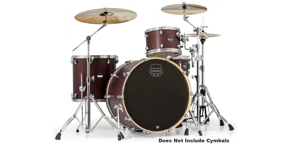 Mapex MA446SRW 4 Piece Mars Rock 24 Shell Pack Bloodwood Chrome Hardware