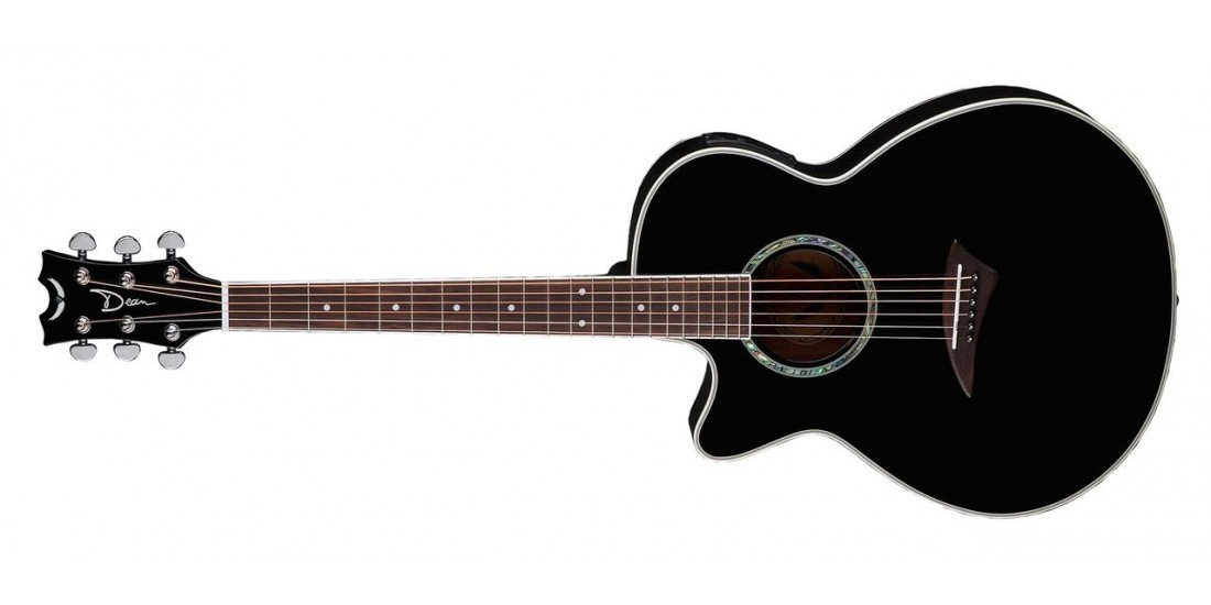 Dean PEL-CBK Performer Acoustic Electric Guitar Classic Black Left Handed (B-Stock)
