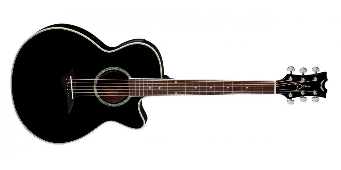 Dean PE-CBK Performer Acoustic Electric Spruce Top Mahogany Back and Sides Classic Black