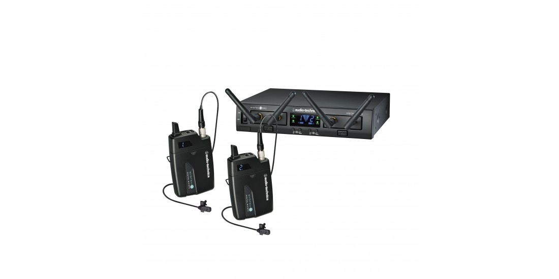 Audio Technica System 10 Pro Dual Digital Wireless System with 2 Body Packs and 2 MT830cW Lavalier Microphone