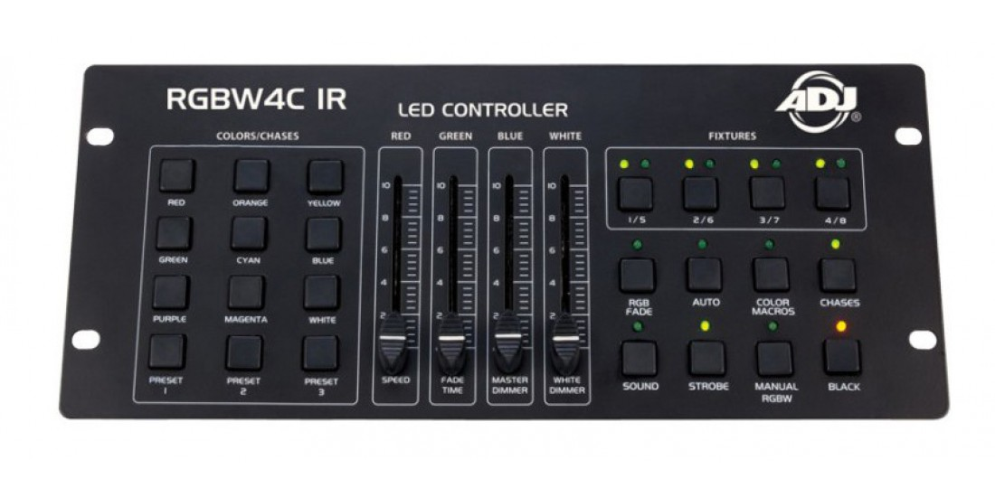 American DJ RGBW4C-IR NEW MODEL W/ IR Control for use with 4 channel fixtures for RGBW DMX control
