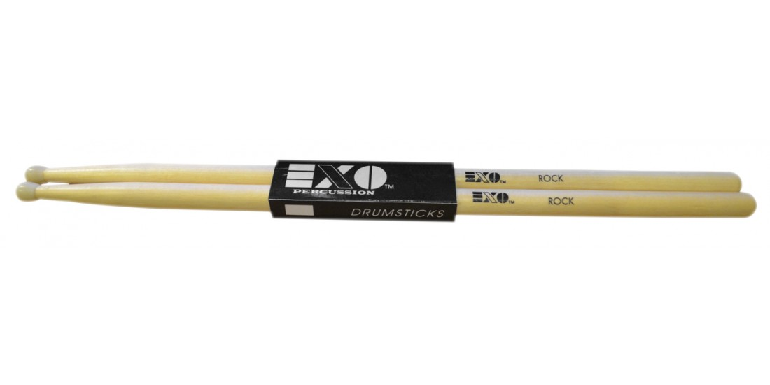 EXO Percussion Maple Drum Sticks Wood Tip and Nylon Tip