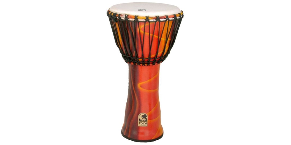 Toca Synergy Freestyle Djembe Rope Tuned 12 inch Head Fiesta