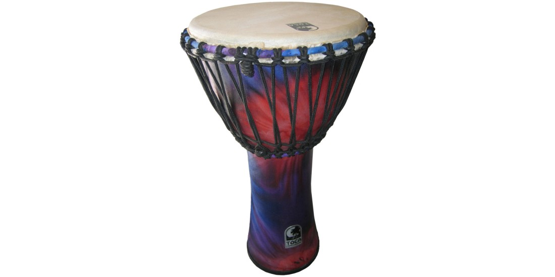 Toca Synergy Freestyle Djembe Rope Tuned 12 inch Head Woodstock Purple