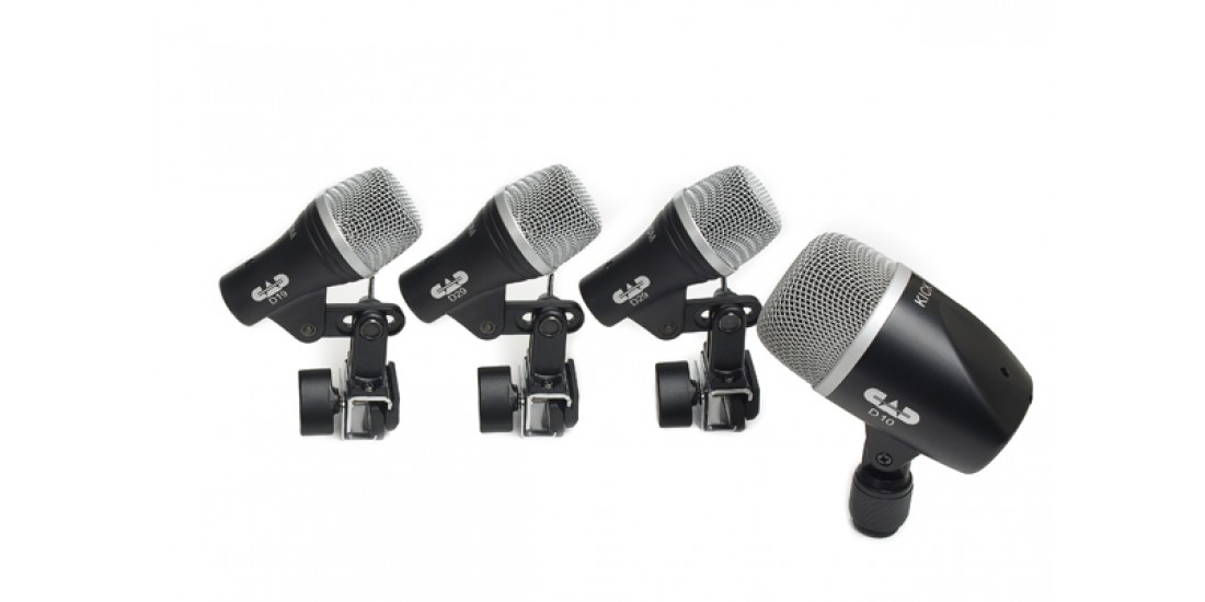 CAD  Audio  STAGE4  4-piece  Drum  Microphone  Pack  -  two  D29  one  D19  one  D10