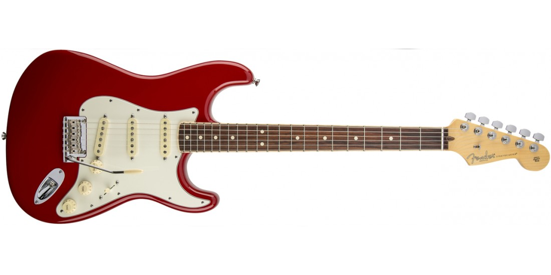 Fender Limited Edition American Standard Stratocaster Channel Bound Rosewood Dakota Red - Open Box