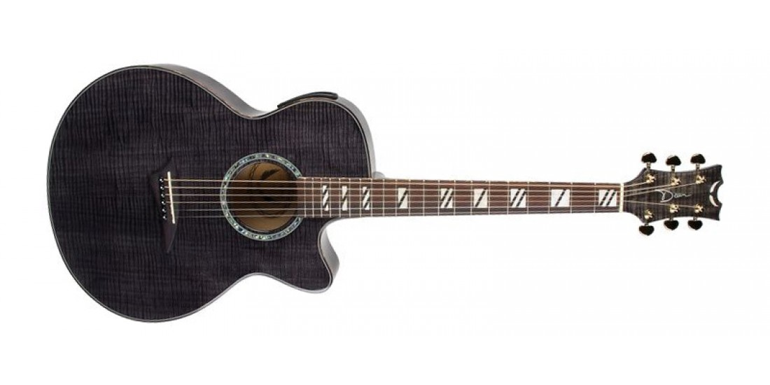 Dean PE-FM-TBK Performer Ultra Acoustic Electric Flame Maple Top Flame Maple Back and Sides Trans Black B-Stock