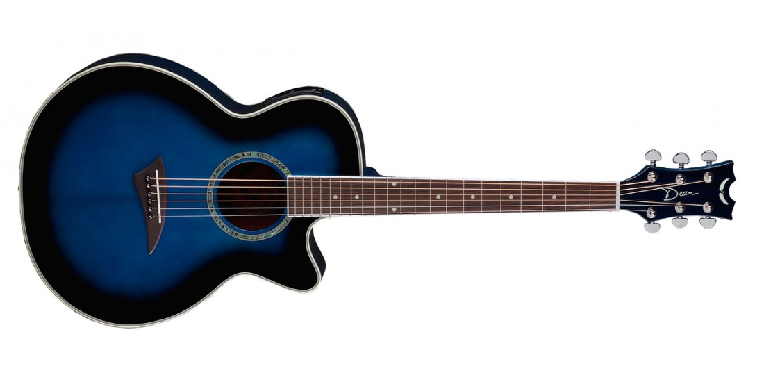 Dean PE-BB Performer Acoustic Electric Spruce Top Mahogany Back and Sides Blue Burst -B-Stock