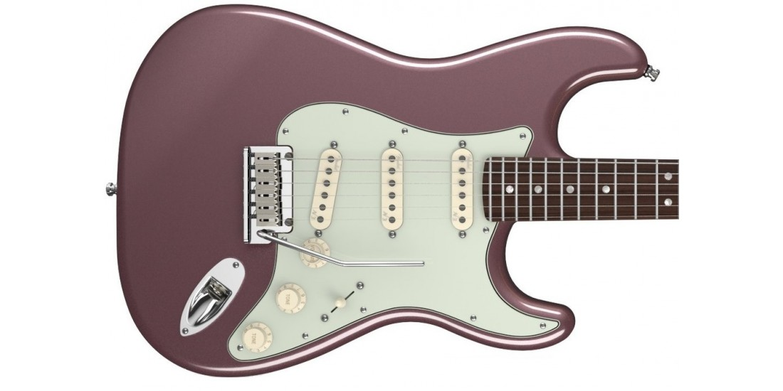 Fender USA American Deluxe Stratocaster Rosewood Fingerboard Burgundy Mist Metallic Used
