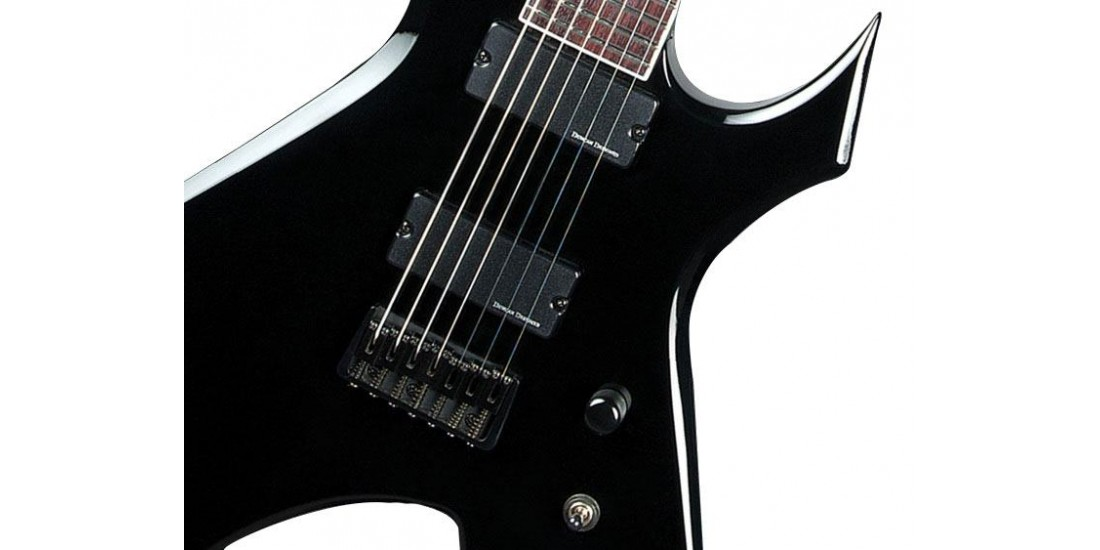 BC Rich WGL7BK Warlock Lucky 7 Electric Guitar Gloss Black