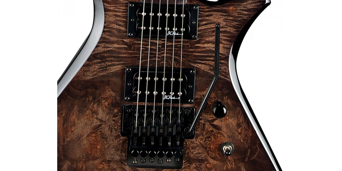 BC Rich WGPFRBKV Warlock Plus Electric Guitar Floyd Rose Black Vapor