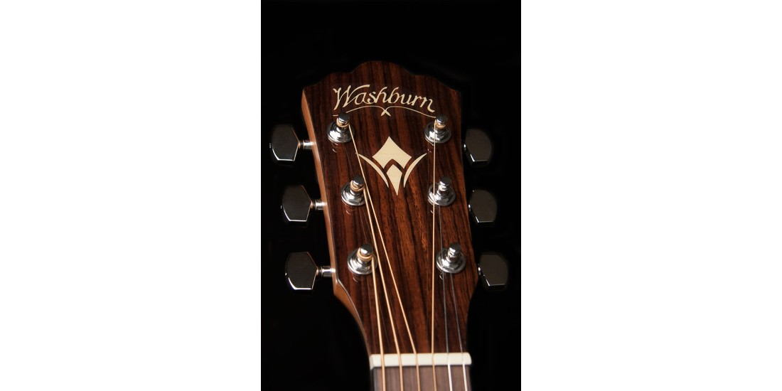 Washburn WLD10SCE Woodline Dreadnought Solid Spruce Top Cutaway Acoustic Electric Guitar Natural