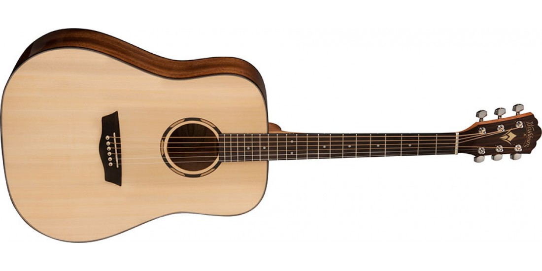 Washburn WLD10S Woodline Dreadnought Solid Spruce Top Acoustic Guitar Natural
