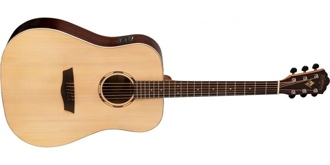 Washburn WLD20S WoodLine Dreadnought Solid Spruce Top Acoustic Guitar Natural