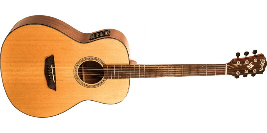 Open Box - Washburn  WLO100SWEK  Woodline  Solid  Wood  Series  Orchestra  Body  Acoustic  Electric  Guitar  with  Factory  Case