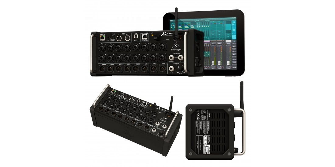 Behringer XR18 - 18-Channel 12-Bus Digital Mixer for iPad and Android Tablets