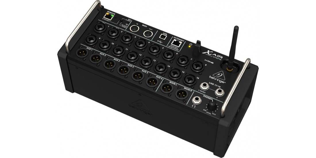 behringer xr18 18 channel 12 bus digital mixer for ipad and android tablets. Black Bedroom Furniture Sets. Home Design Ideas