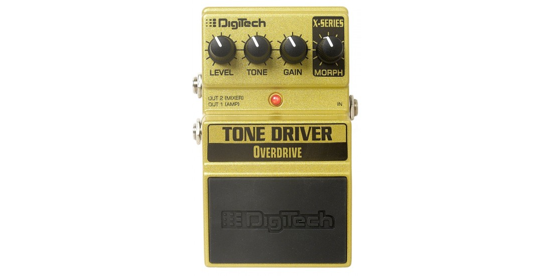 Digitech XTD X-Series Tonedriver Distortion Overdrive Morphing and Cabinet Modeling Outputs