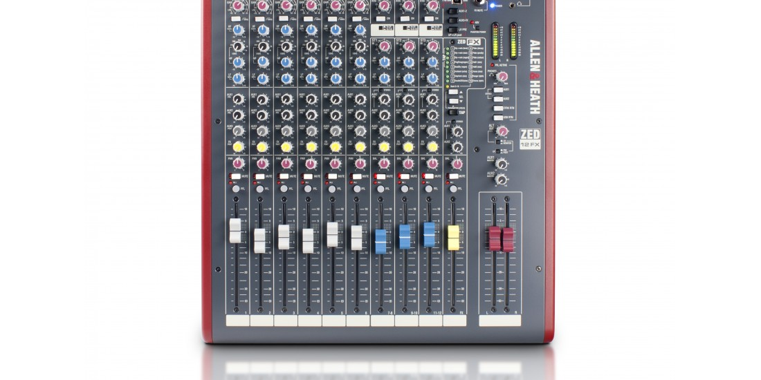 Allen & Heath ZED-12FX 12 Input USB Audio Mixer with Effects
