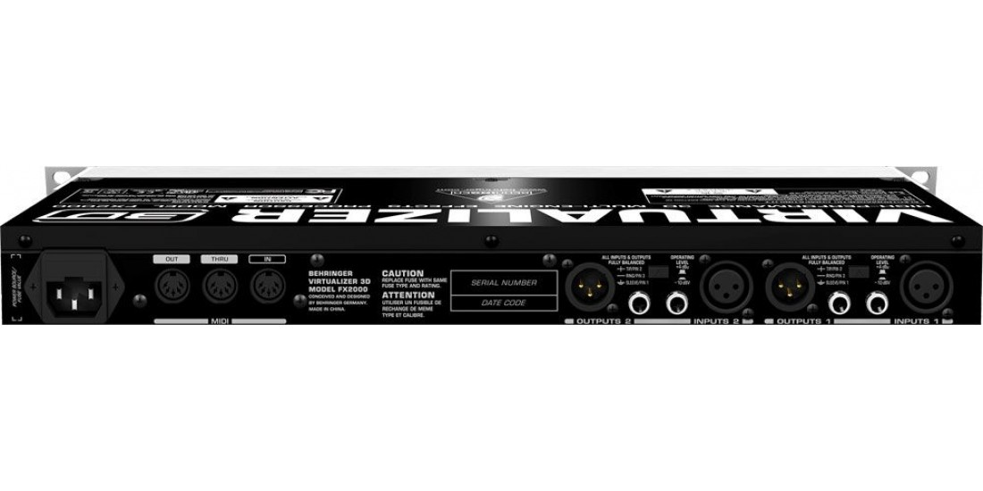 Behringer FX2000 High-Performance 3D Multi-Engine Effects Processor