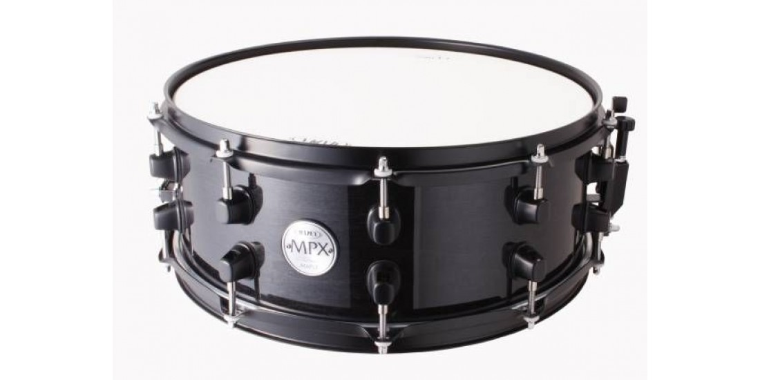 Mapex MPML3600BMB MPX Series Maple Snare Drum in Transparent Black