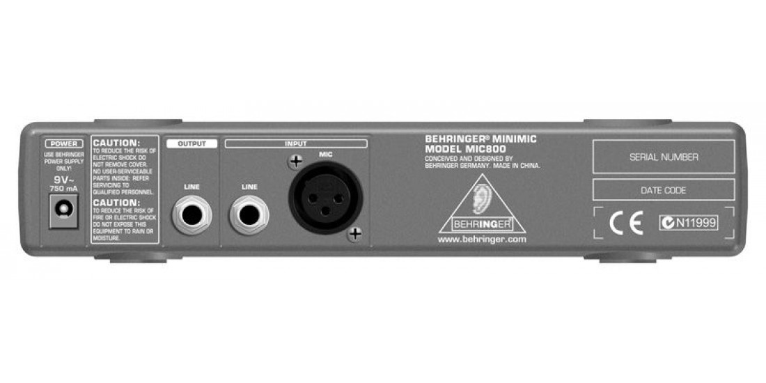 Behringer  MIC800  Ultra  Compact  Microphone  Modeling  Preamp