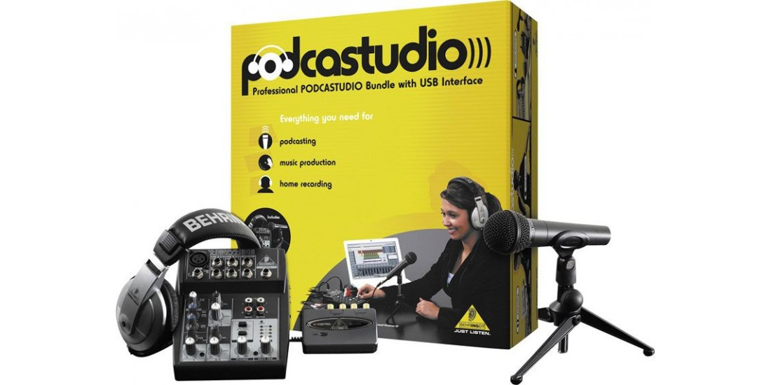 Behringer PODCASTUDIO Home Recording Studio Package