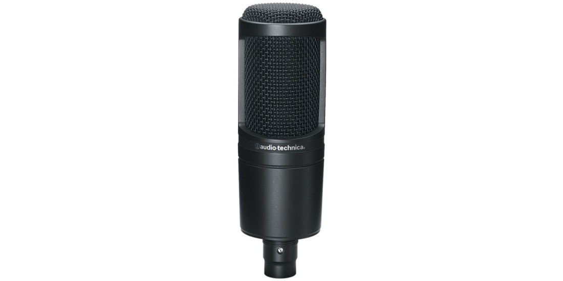 audio technica at2020 cardioid studio condenser microphone. Black Bedroom Furniture Sets. Home Design Ideas
