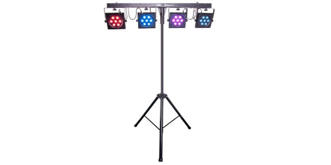 Chauvet  CH-4BARTRI  Portable  tri-color  LED  wash  lighting  with  Stand  and  Bag