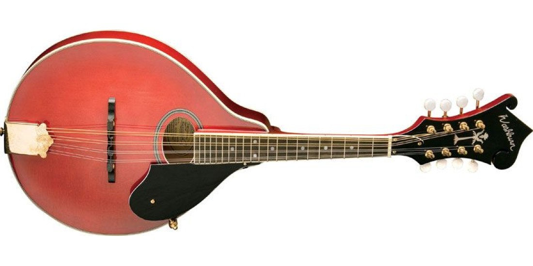 Washburn M1SDLTR Solid Top A Style Mandolin F-Headstock Trans Red