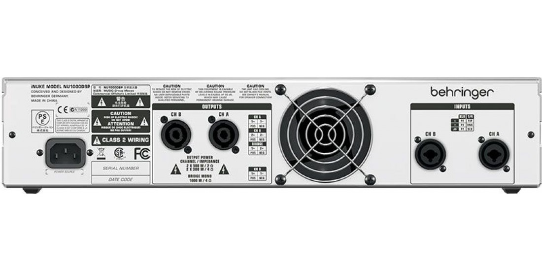 Behringer  NU1000DSP  Stereo  Power  Amplifier