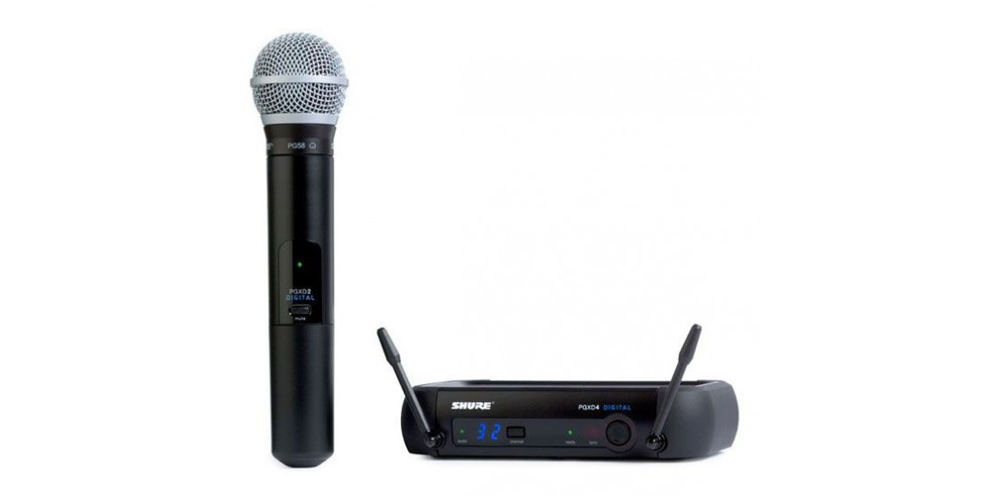 Shure PGXD24-PG58 Digital Handheld Wireless Microphone System