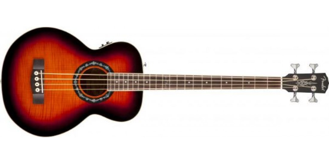 Fender T-Bucket Acoustic Electric Bass Guitar Flamed Maple Top