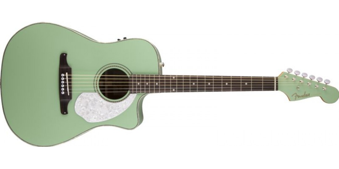 Fender Sonoran Series Solid Top Electric Acoustic Guitar Surf Green
