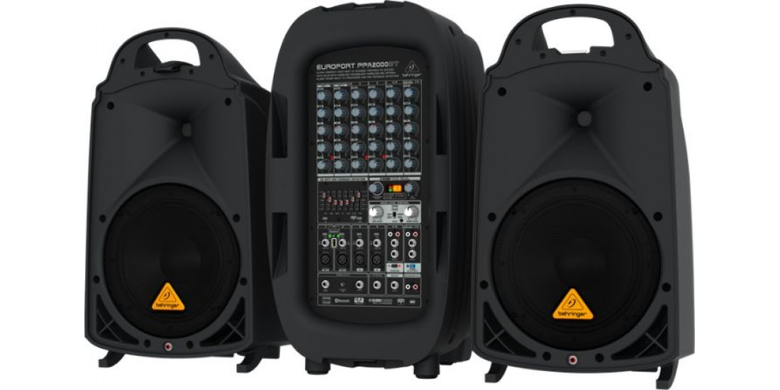 Behringer  PPA2000BT  2000  Watt  8-Channel  Compact  PA  System