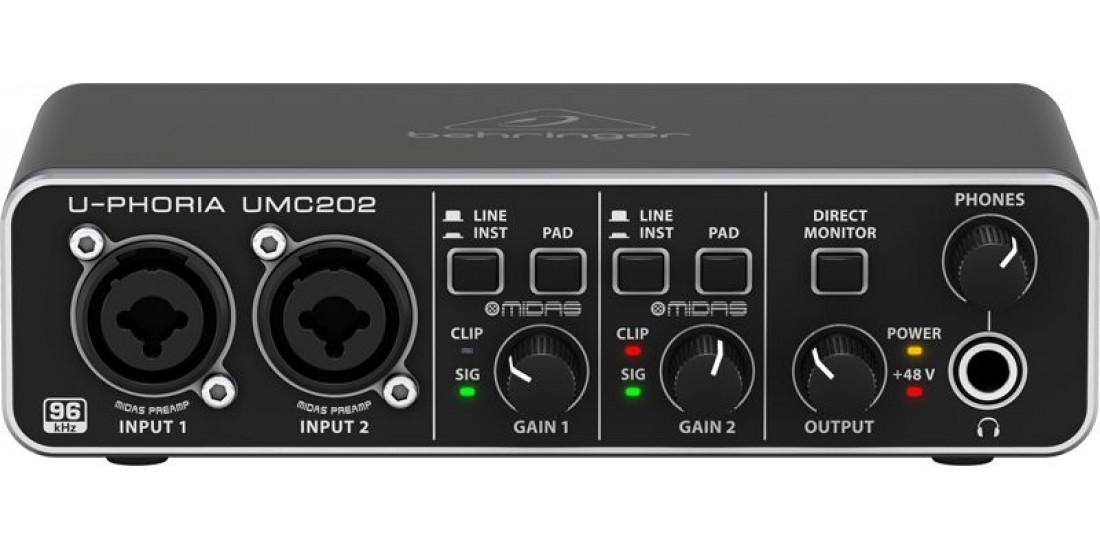 Behringer U-Phoria UMC202 2x2 Audio Interface