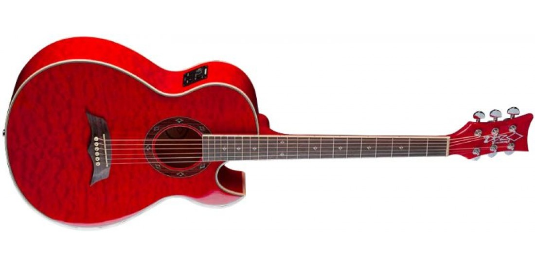 DBZ CA21EQM-TR Electric Acoustic Guitar Trans Red Finish