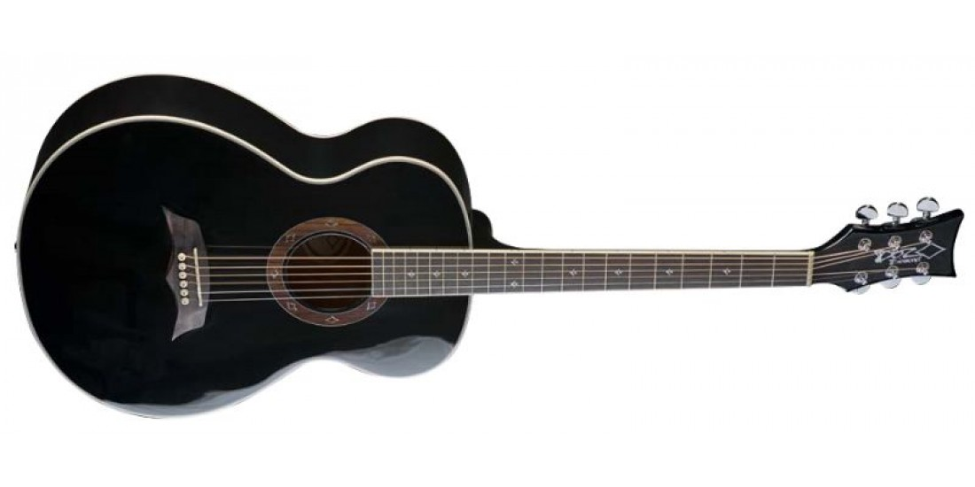 DBZ T21F-BK Acoustic Guitar Spruce Top Gloss Black Finish - B Stock