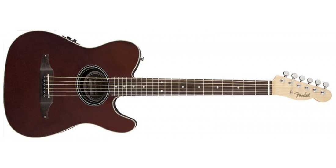 Fender Telecoustic Electric Acoustic Guitar Walnut Stain