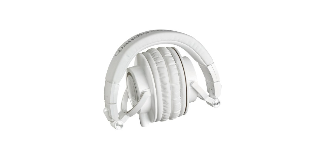 Audio Technica ATHM50X Pro Closed Back Studio Monitor Headphones Limited Edition White