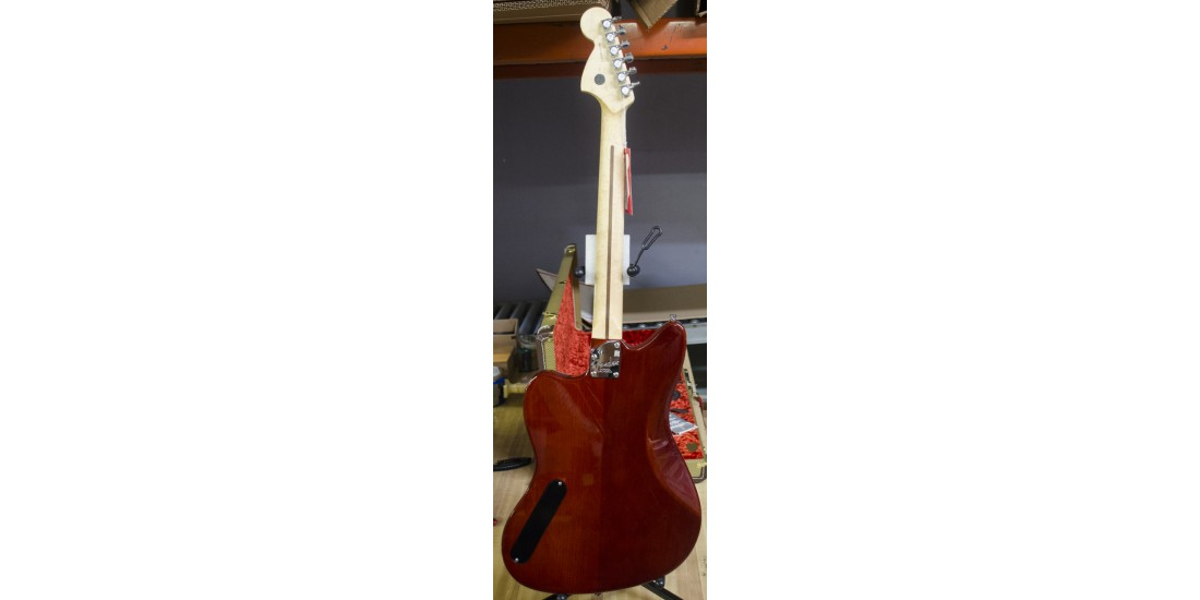 Fender USA Select Jazzmaster Electric Guitar Rosewood Fingerboard Trans Cayane Burst B-Stock (item 1)