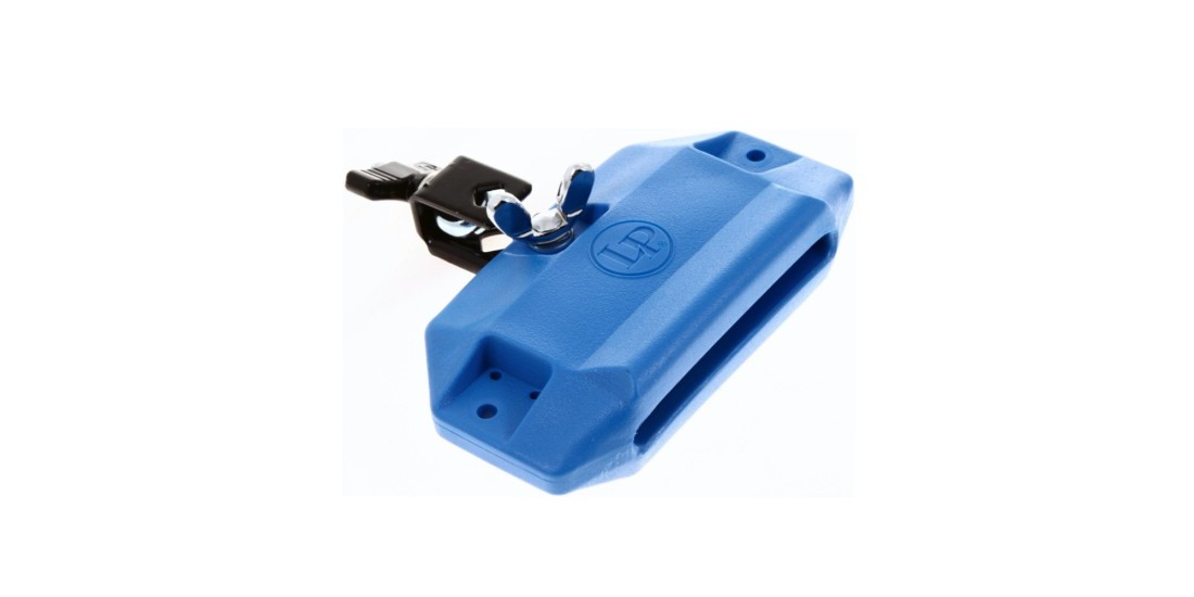 LP Latin Percussion Jam Block High With Mounting Bracket Blue