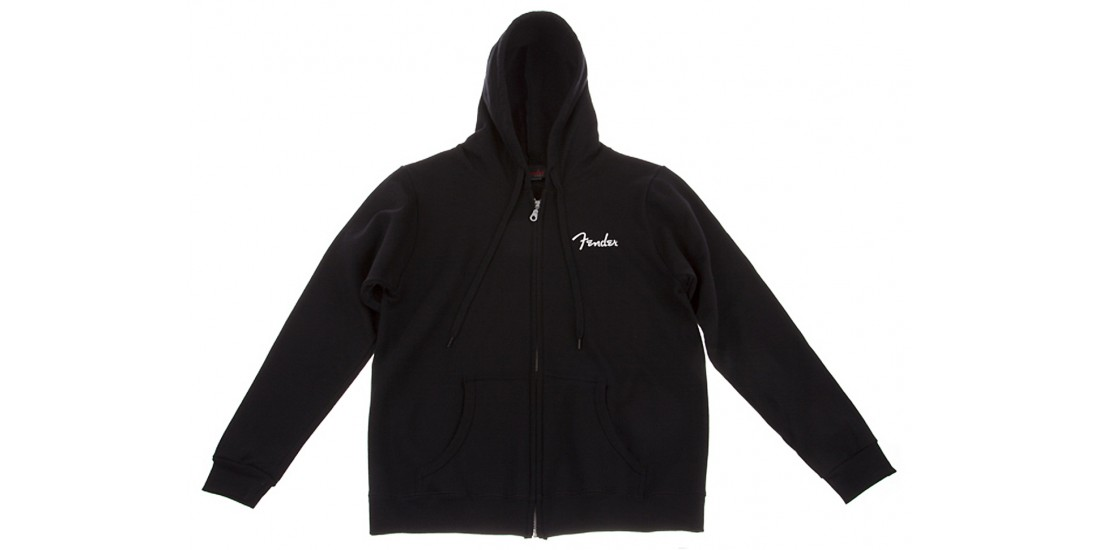 Fender Ladies Black Hoodie Sweatshirt - XL