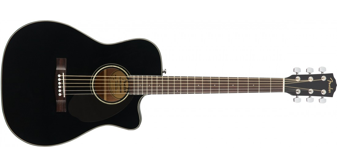 Fender CC60-SCE Acoustic Electric Guitar Black Finish
