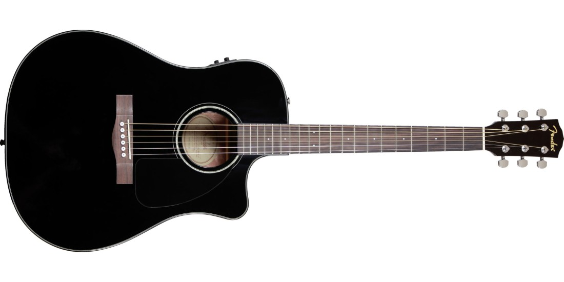 Fender CD60-SCE Acoustic Electric Guitar Black